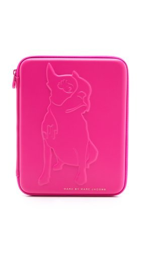 Marc by Marc Jacobs Don't Sweat My Pet Tech Olive Tablet Case, Pop Pink, One (Marc Jacobs Olive)