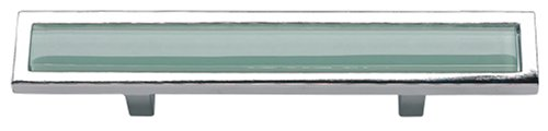 (Atlas Homewares 231-GR-CH Spa Green 3 in. (76mm) Pull, Polished)