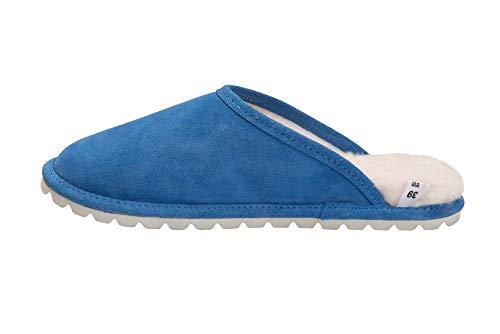 D68P Luxe Doublure Vogar Mouton avec Laine Pantoufles Peau de Bleu Femmes Chaud Chaussons xwPq51wOp