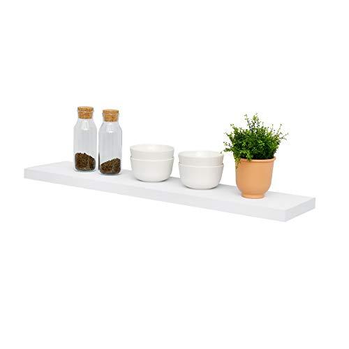 WELLAND Simons Floating Wall Shelf Ledge Shelves(36-inch, White)