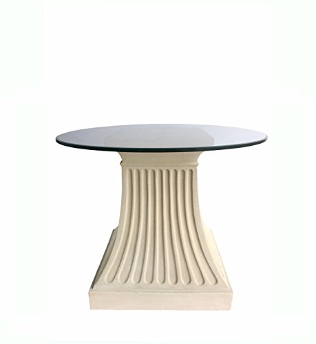 Anderson Teak Fluted Pedestal Dining Table in Natural Beige