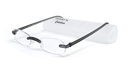 Calabria Reading Glasses - 714 Flexie in Charcoal +1.25