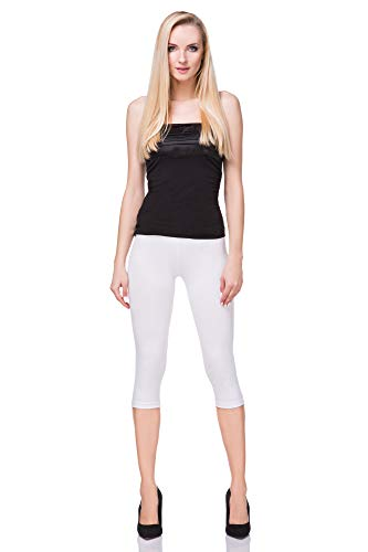 FUTURO FASHION Kurze geschnittene Baumwolle Leggings Komfortable Fitness