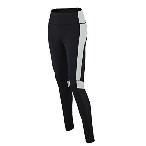 Pantalon Long Red decoct de fitness sport/course Fonction Pantalon/Pantalon/Pantalon de sport/Yoga/Taille Haute/réflecteurs/Noir/Gris