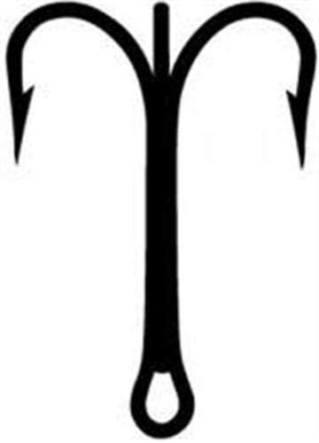 25 x Mustad #3551 bronze treble hooks size #16
