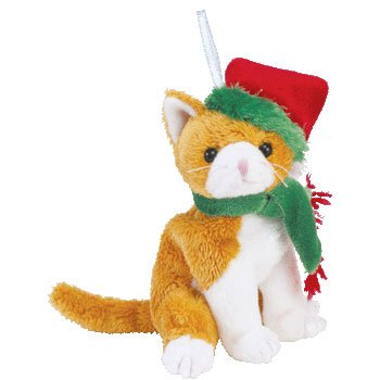 Ty Jingle Beanies Jangle the Holiday Cat (Smaller than Beanie Baby)