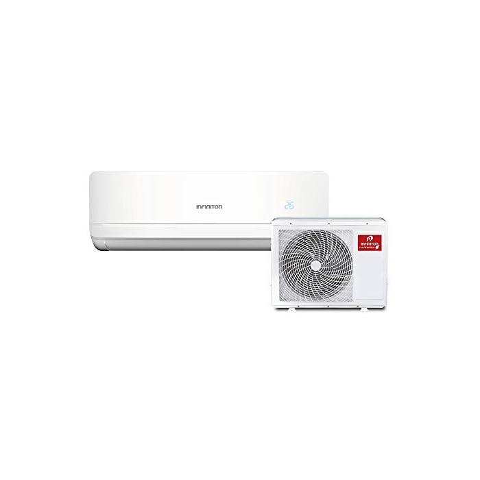 3500 FRIGORIAS Aire acondicionado SPLIT-3720MU Infiniton tiene una clasificación energética A++ gracias a la cual percibirás un importante ahorro en tu factura de la luz. iClean auto-limpieza - Función ECO - Función ECO - Deshumidificador La temperatura indicada en el exterior del aire acondicionado Infiniton se muestra a través de LED y el sensor se encuentra en el control remoto.