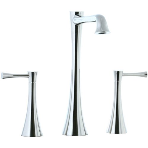 Cifial 245.180.721 Brookhaven Widespread Hi-Profile Bathroom Sink Faucet with Crown Lever Handles, Polished Nickel