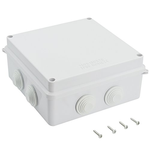 - LeMotech ABS Plastic Dustproof Waterproof IP65 Junction Box Universal Electrical Project Enclosure White 5.9