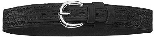 Bianchi 1015402 Model B4 Ranger Basket Weave Belt with Chrome Buckle, Black, Size 38 ()