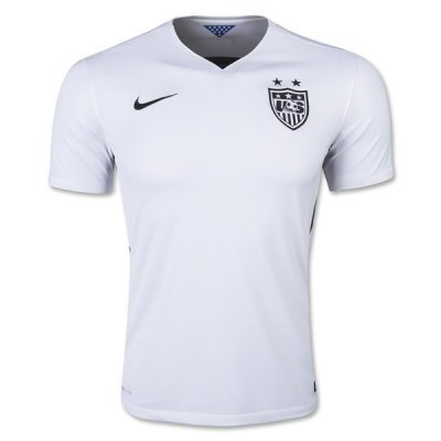 Nike USA Women's Home Stadium Soccer Jersey For Men (White, Black) Youth X-Large by NIKE