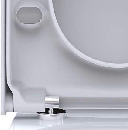 Si/ège de toilette Pagette S3 correspondre Duravit Starck 2,Starck 3 - blanc Happy D Darling New avec douce