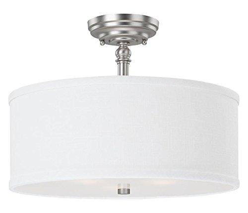 Matte Nickel Loft 3 Light Semi-Flush Ceiling (Urban Loft Three Light)