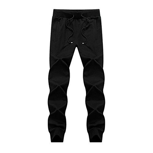 Modern Fantasy Mens Sport Draw Cord Knits Cotton Running Zip Pocket Pants Size US S