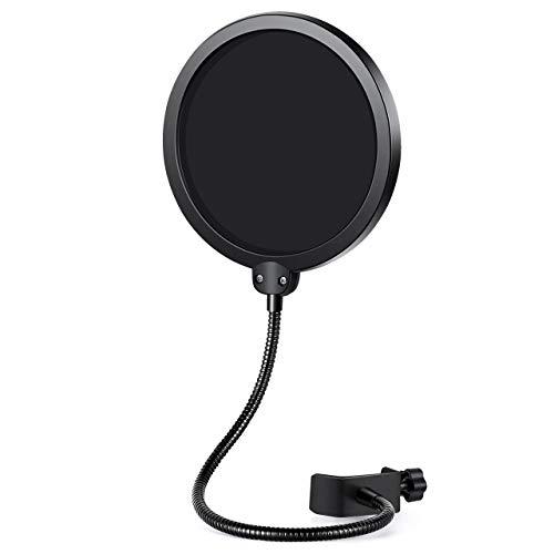 InnoGear Filtro Pop de Microfono con Doble Capa Protector de Sonido Protector de Ventana Popfilter para Blue Yeti y Otro Estudio de Grabacion Mic