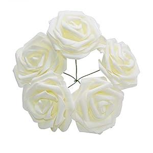 YONGSNOW PE Foam Rose 30pcs 10cm Artificial Foam Rose Flowers for DIY Bouquets Wedding Party Hotel Decoration 90