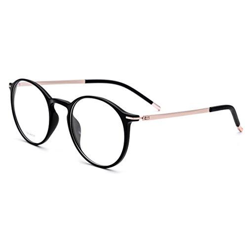 FONEX Men Titanium Alloy Optical Prescription Glasses Frame Eyewear 725 (black, - Fashion Glasses Korean