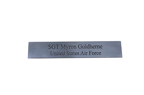 Custom Engraved Personalized Name Plates with Two Lines of Text