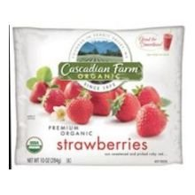 Cascadian Farm Organic Strawberries, 10 Ounce - 12 per case.