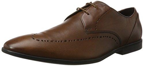 Clarks Herren Bampton Limit Brogue Schnürhalbschuhe Braun (Tan Leather)