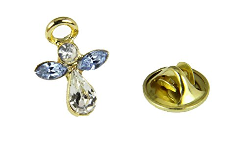 6030069 December Crystal Birth Month Angel Pin Guardian Lapel Brooch Tie Tack