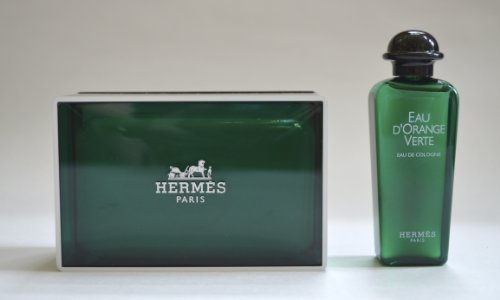 Hermes Paris Gift Set - 150 gram boxed d'Orange Verte Savons Parfumes Soap and Eau d'Orange Verte Fragrance - Savon Parfume - 1 ounce/30 ml