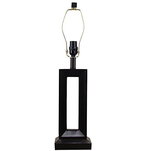 Hampton Dark Walnut Wood - Mix & Match 25.5 in. Dark Walnut Wood Open Rectangle Table Lamp-Title 20