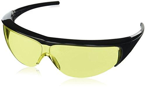 Uvex 11150352 Millennia Safety Eyewear, Black Frame, Amber Ultra-Dura Hardcoat Lens