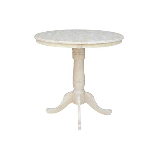 ts 36-Inch Round Extension Counter Height Table with 12-Inch Leaf ()
