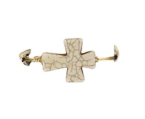 Price comparison product image Blazin Roxx Women's Wired Cross And Stones Bangle White One Size