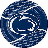 96 NCAA Penn State Nittany Lions Round Tailgate Party Paper Dinner Plates 8.75""