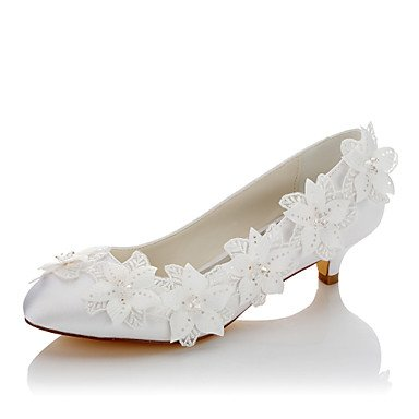 1In CN37 Wedding Comfort UK4 Comfort 5 amp;Amp; White Wedding Satin Dress 5 EU37 Low Evening 7 Spring 3 Women'S 1 Heel Party 4In 5 US6 Fall Applique Shoes pqdPSna