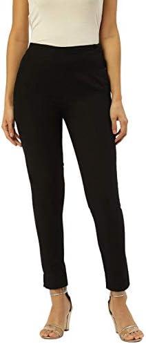 Rapsodia Women Trouser Pants Regular Fit Solid Cotton (Black)