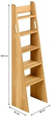 BioKinder 22214 Escalera de Mano Noah, Cama de Aliso de Madera Maciza 140 cm: Amazon.es: Hogar