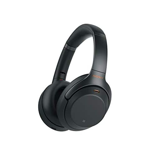 Sony Noise Cancelling Headphones WH1000XM3: Wireless Bluetooth Over the Ear Headphones with Mic - Industry Leading Active Noise Cancellation - Black
