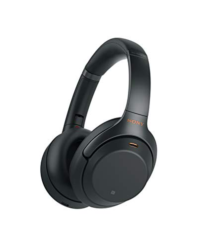 Sony WH1000XM3 Wireless Industry Leading Noise Canceling Over Ear Headphones, Black (WH-1000XM3/B) by Sony