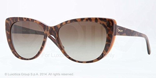 Donna Karan DY4109 Sunglasses-361513 Top Leopard/Brown Trans (Brown - Dkny Sale Sunglasses