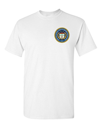 ATF Bureau of Alcohol, Tobacco, Firearms and Explosives Seal White T-Shirt (White, - Seal Atf