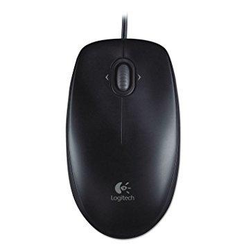 (Logitech 910001601 M100 Corded Optical Mouse USB Black)