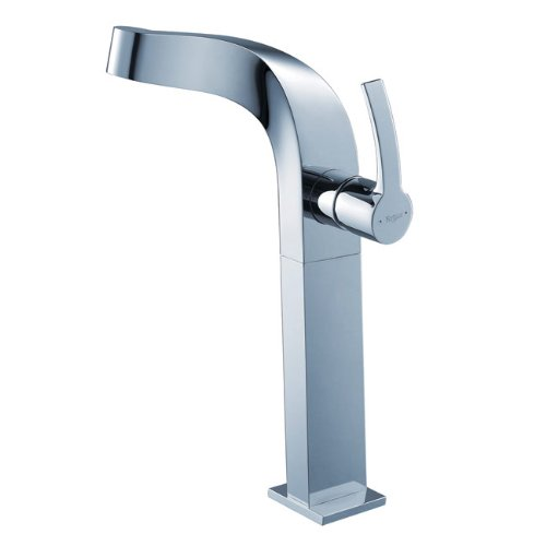 Kraus KEF-15100-PU-10CH Typhon Single Lever Vessel Bathroom Faucet with Pop Up Drain Chrome by Kraus B005HGWR3K