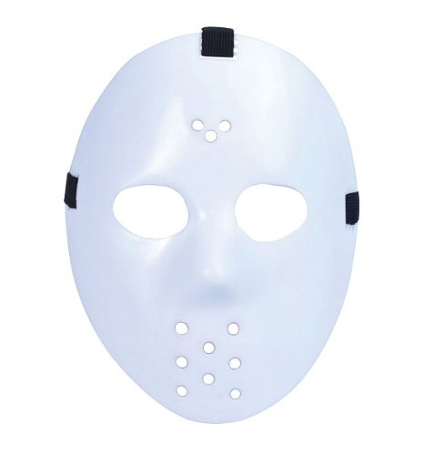 White Halloween Jason Hockey Mask (Hockey Mask Halloween Costume)