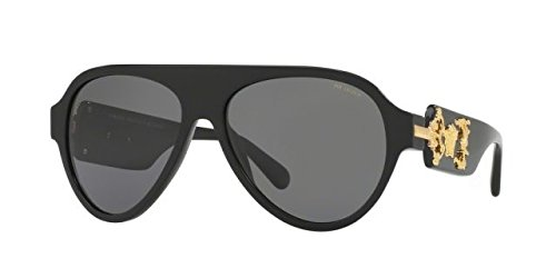 Versace Mens Only At Sunglass Hut Sunglasses (VE4323) Black/Grey Acetate - Polarized - - Versace Sunglasses Authentic