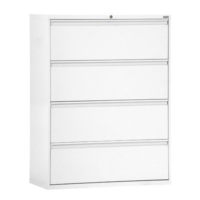 Sandusky Lee LF8F304-22 800 Series 4 Drawer Lateral File Cabinet, 19.25'' Depth x 53.25'' Height x 30'' Width, White by Sandusky