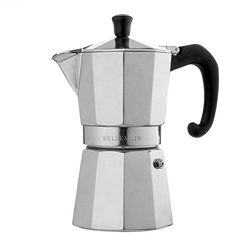 (Bellemain 6-Cup Stovetop Espresso Maker Moka Pot)