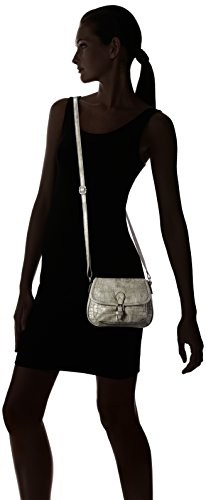 GERRY WEBER Stay Flap Bag H, S - Bolso bandolera Mujer Gris - Grau (grey 800)