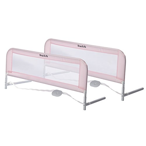 Dream On Me Adjustable Mesh Bedrail Double Pack, Pink,