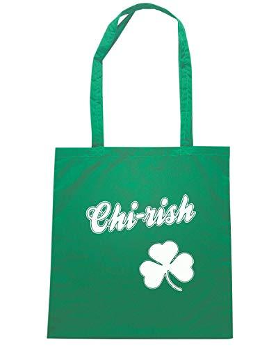 Speed Shirt Borsa Shopper Verde TIR0025 CHIRISH CHICAGO IRISH
