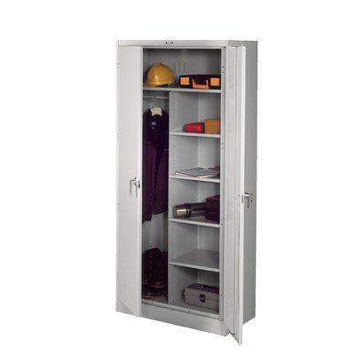 Deluxe 78''H x 36''W x 24''D 2 Door Storage Cabinet Color: Light Grey, Doors: Standard