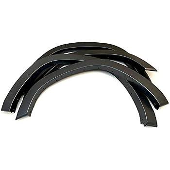 4In1 Black Polyurethane Durable Flexible Autos Automobile Exterior Fender Flares