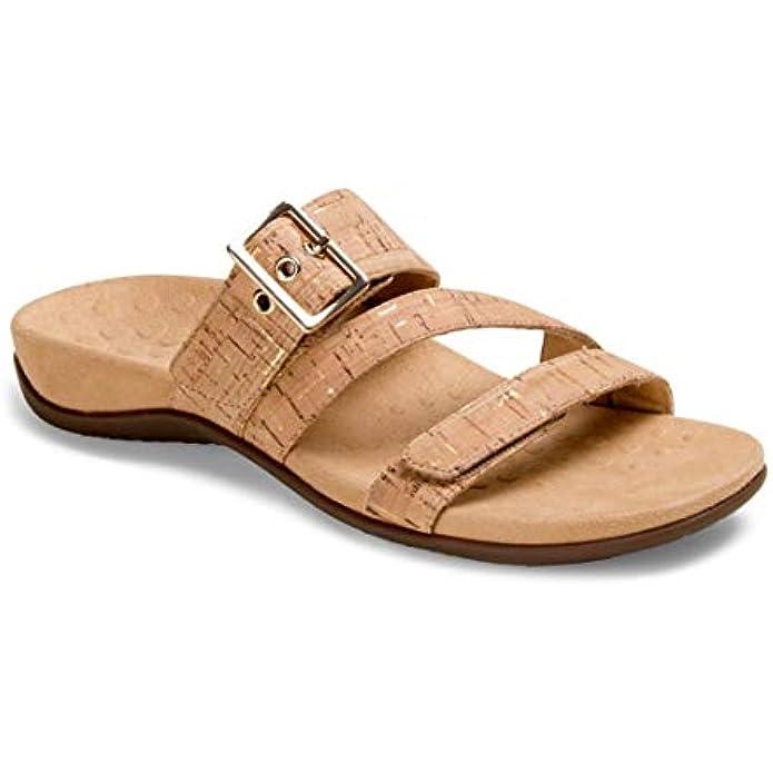 Vionic Women's Rest Skylar Slide Sandal- Adjustable Walking Sandals with Concealed Orthotic Arch Support
